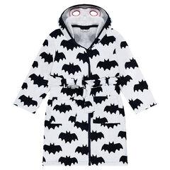 """Badjas met print van ©Warner Batman """"all-over"""" en kap met geïntegreerd masker"""