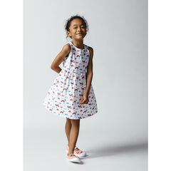 Robe sans manches imprimée all-over en coton bio