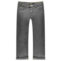 Jeansbroek met recht pasvorm coating effect