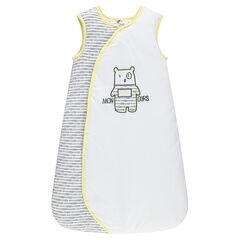 Trappelzak zonder mouwen in Teddybeer jersey borduursel
