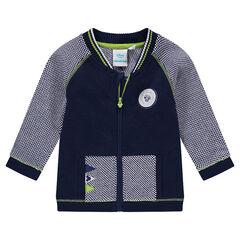 Gilet bi-matière en tricot Disney avec badge Mickey