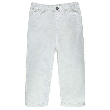 Pantalon en coton armuré à poches
