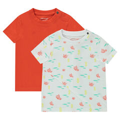 """Set met 2 T-shirts met korte mouwen, effen/print """"all-over"""""""