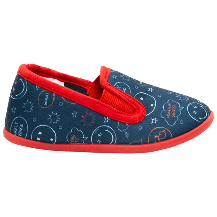 Chaussons bas imprimés Smiley all-over