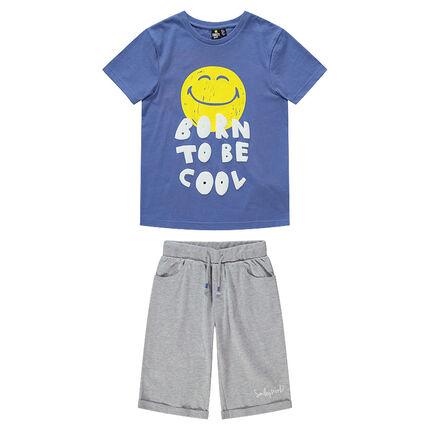 Junior - Pyjama van jerseystof met ©Smiley-print