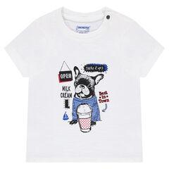 Tee-shirt en jersey avec print Bouledogue français