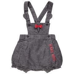 Korte tuinbroek met print van Minnie Disney met strik