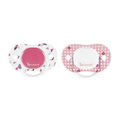 Omkeerbare fopspenen 6-12 m - Roze/confetti