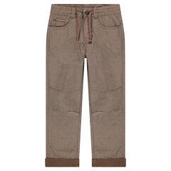 Pantalon en jersey fantaisie avec cordons de serrage