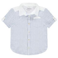 Hemd met korte mouwen uit decoratief katoen met zakje