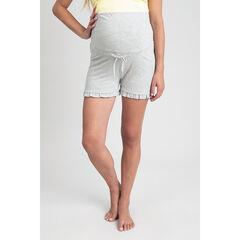 Short homewear de grossesse finition volantée , Prémaman
