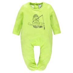 Pyjama in dier fluweel