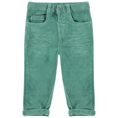 Pantalon en velours milleraies à poches