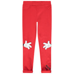Jegging rouge en milano print Minnie Disney