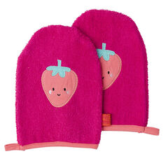 Set met 2 washandjes met fruit patch