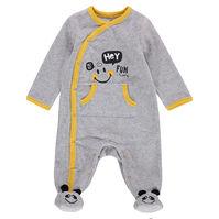 Fluwelen pyjama met motief ©Smiley en zak