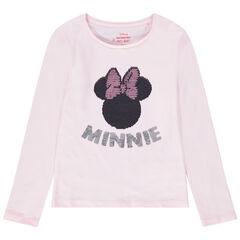 Disney T-shirt met lange mouwen met Minnie van magische lovertjes