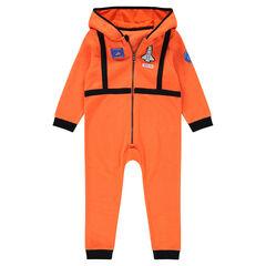 Bovenpyjama in aviator-stijl van fleece, met kap en raketbadge