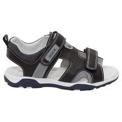 Sandalen met dubbele klittenband