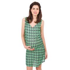 Robe de grossesse avec imprimé géométrique all-over