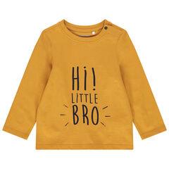 T-shirt manches longues en coton bio à message