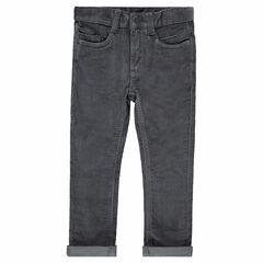 Pantalon en velours milleraies gris