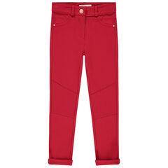 Pantalon en milano à découpes