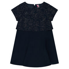 2-in-1 jurk met korte mouwen en bloemenmotief