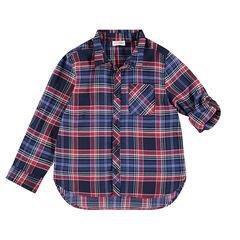 Junior - Hemd met lange mouwen met ruitjes en fantasieweefsel
