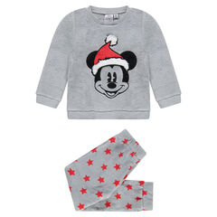 Pyjama en sherpa Disney avec Mickey brodé esprit Noël