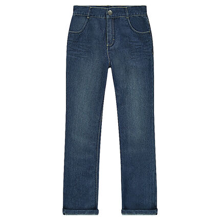 Junior - Jeans coupe droite effet délavé