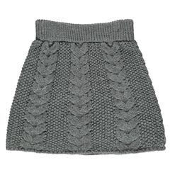 Jupe en tricot avec jeu de torsades