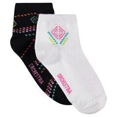 Lot de 2 paires de chaussettes ethniques
