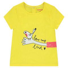 Tee-shirt manches courtes en jersey avec motif fantaisie printé