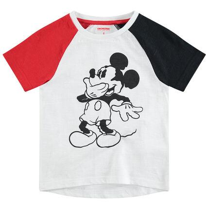 Shirt met korte mouwen in drie kleuren met Mickey ©Disney print