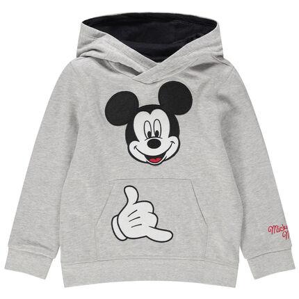 Trui van molton met geborduurde Disney Mickey