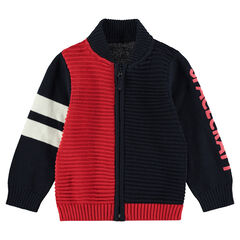 Vest van Oootmaanse tricot met print met tekst aan de mouw