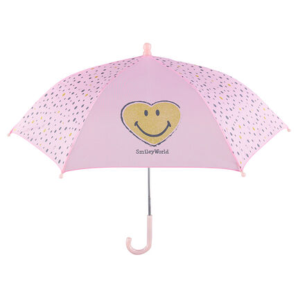 Parapluie rose avec pois et ©Smiley