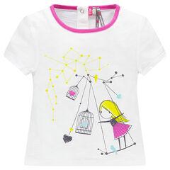 T-shirt korte mouwen fantasieprint