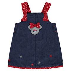 Robe en chambray Disney avec badge serti Minnie