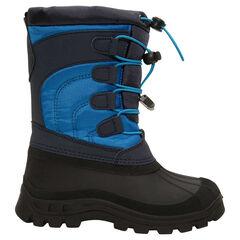 Sneeuwlaarzen voor jongens van nylon met rubberen bekleding en ritssluiting van maat 28 tot 35