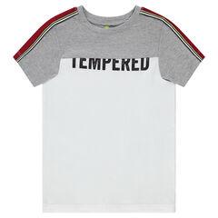 T-shirt met korte mouwen van jerseystof met print met boodschap