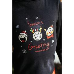 Sous-pull col roulé print Smiley esprit Noël