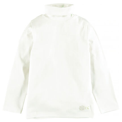 Junior - Sous-pull col roulé en coton stretch