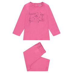 Pyjama van jerseystof met fantasieprint