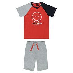 Junior - Pyjama court en jersey avec print ©Smiley