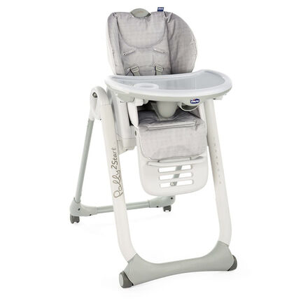 Kinderstoel regelbaar Polly2Start - Happy silver