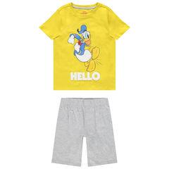 Ensemble t-shirt et bermuda en coton bio motif Donald Disney , Orchestra