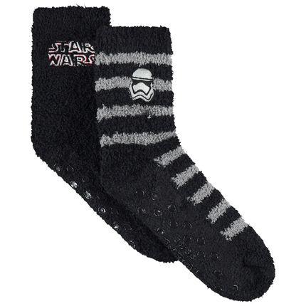Lot de 2 paires de chaussettes en bouclette broderie Star Wars