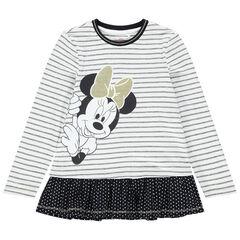 Tuniek met lange mouwen, streen en print met Minnie Disney